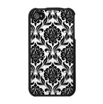 black and white iphone case. Black and White Damask iPhone