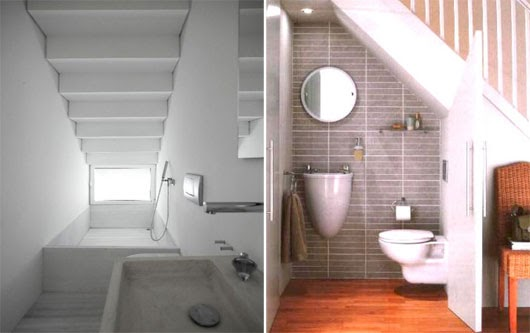 Small closet under staircase design ideas interior for Bathroom designs under stairs