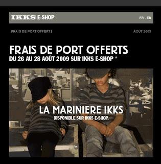 Ikks toutes les news sur la marque ikks avant tout le monde - Les frais de port ...