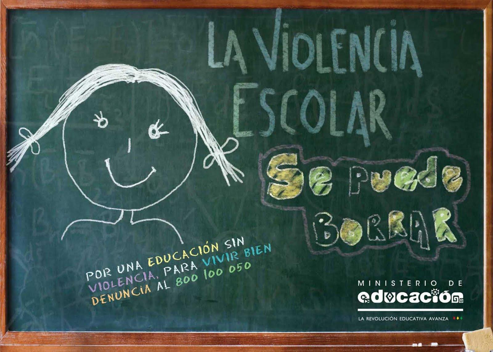 La violencia escolar se puede borrar