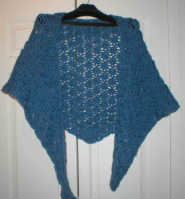 Offset Shell Crocheted Prayer Shawl Pattern