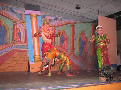 A scene from the dance - Lord Vishnu as Narasimha