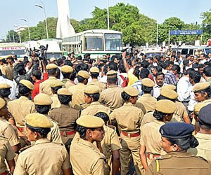 Demonstration by journalists at Chennai
