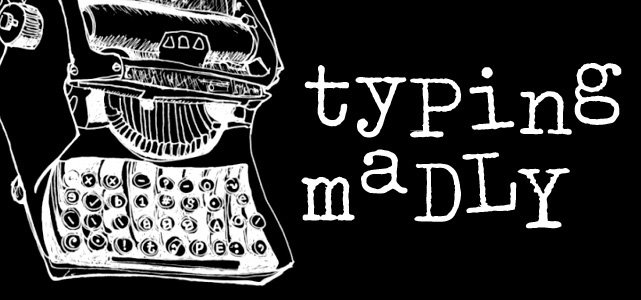typing madly