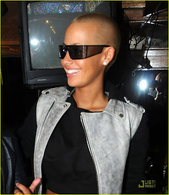 amber rose with long hair pictures. model amber rose with hair.