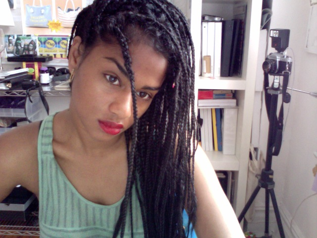if you don't want to add extensions, make like vashtie and box braid