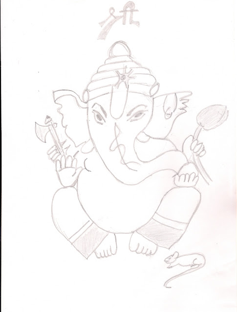 Ganesha Drawing Pictures Funny Lord