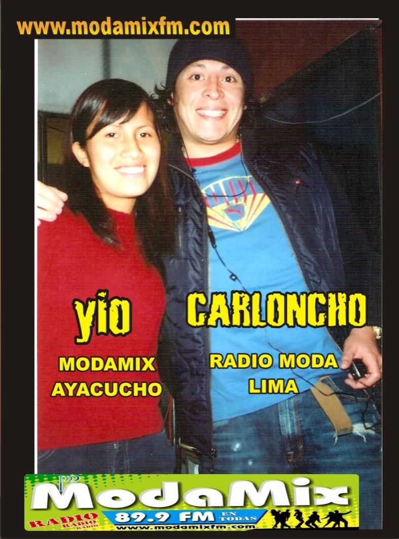CARLONCHO DE RADIO MODA VISITO LA CABINA DE RADIO MODAMIX EN AYACUCHO