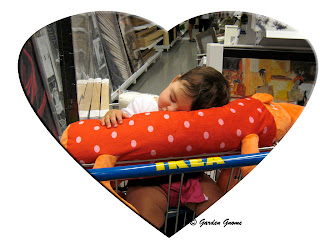 oldest grandbaby tuckered out at Ikea