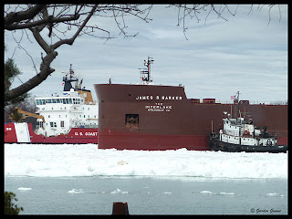 freeing the James R. Baker lake freighter