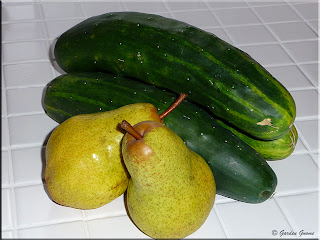 cucumbers and pears