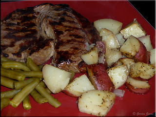 grilled steak with roasted red potatoes