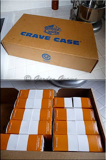 White Castle crave case and burgers
