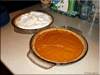lemon and pumpkin pies