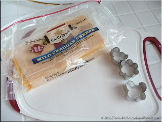 cheese and cookie cutters