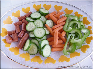 kiddie veggie tray