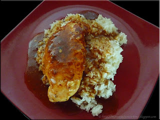 easy chicken & gravy with rice