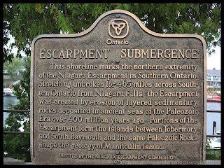 Niagara Escarpment plaque