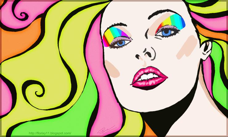 Florixy Disegno Viso Donna Stilizzato