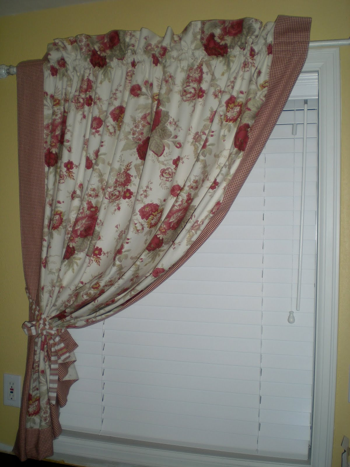 Exceptional Waverly Tablecloth Transformation . . . French Country Curtains