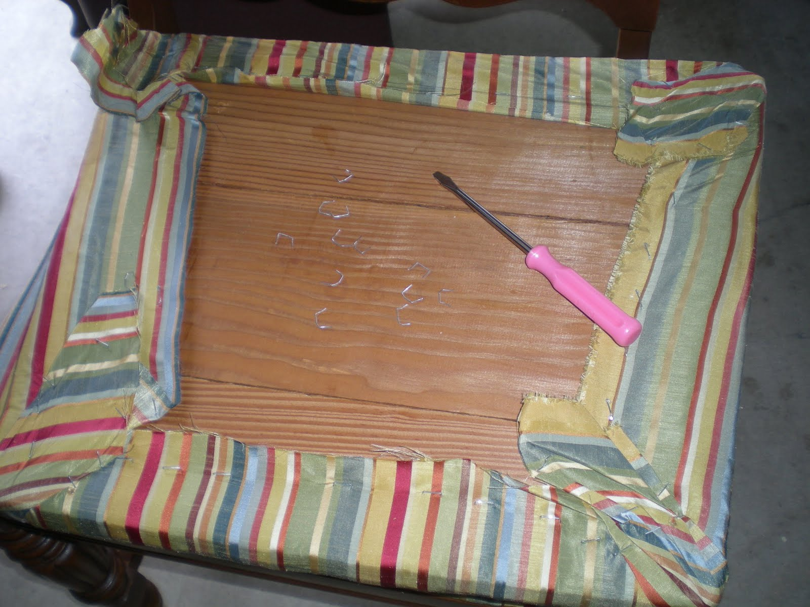 Diy how to reupholster a chair seat pad easy How To Reupholster A Chair  Image Titled Reupholster A Dining  . Recover Chair Pad. Home Design Ideas