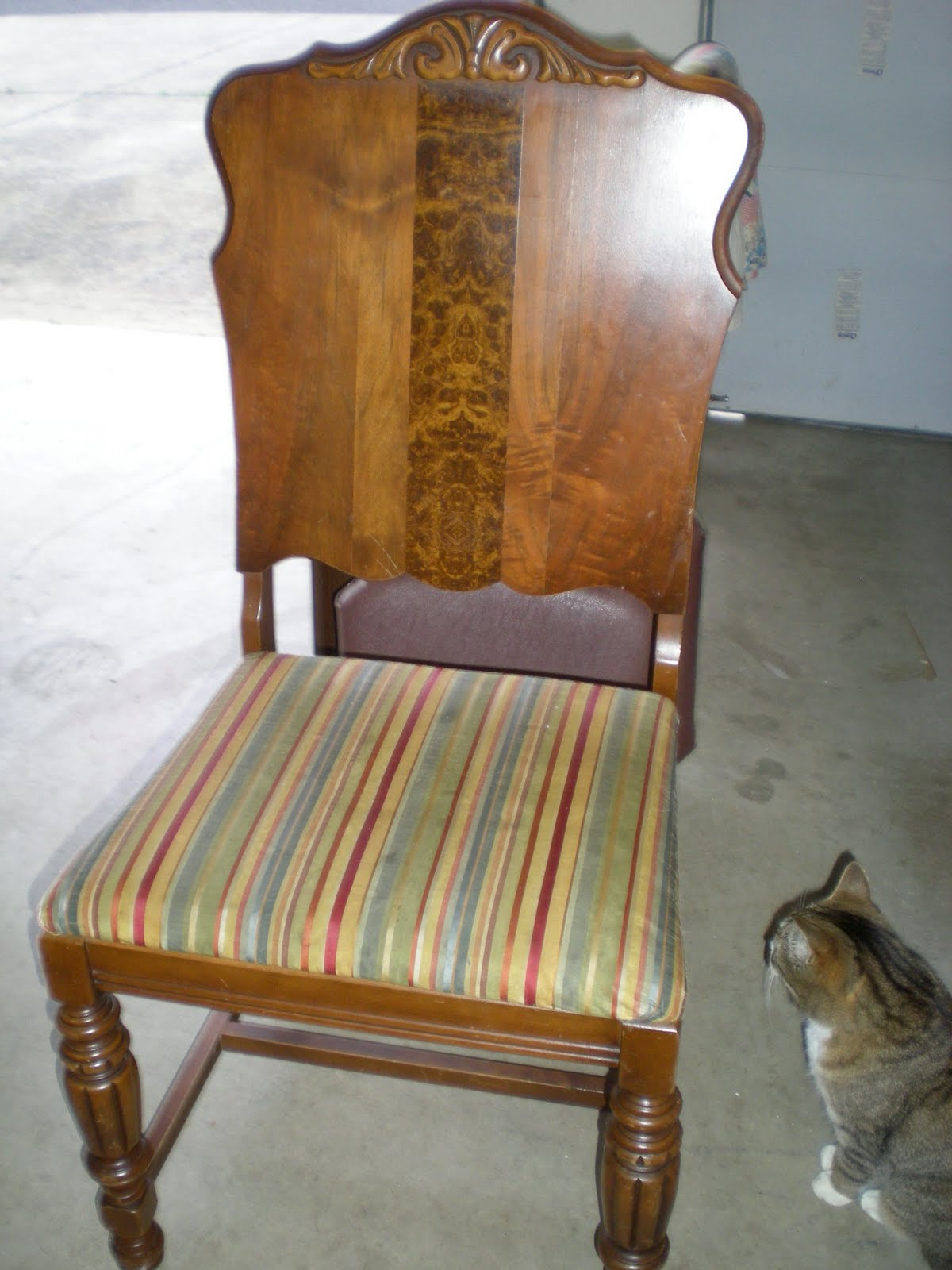 saltbox treasures diy how to reupholster a chair seat. Black Bedroom Furniture Sets. Home Design Ideas