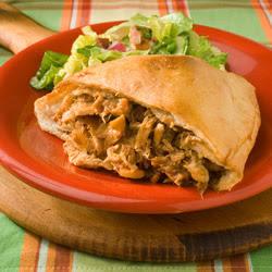White Trash Recipes: BBQ Chicken Calzone