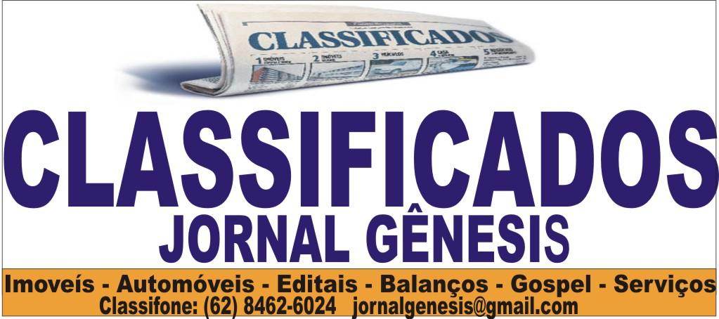 CLASSIFICADOS JORNAL GÊNESIS