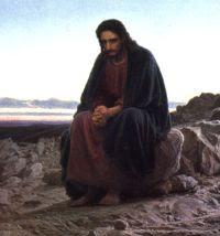 Jesús orando en el desierto