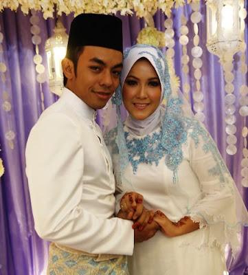 Selamat pengantin baru diucapkan kepada Raja Farah dan Megat Qhuyum.