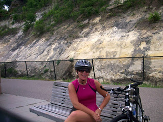 Me Cycling the Great River Road in Minneapolis