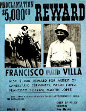 REWARD PANCHO VILLA