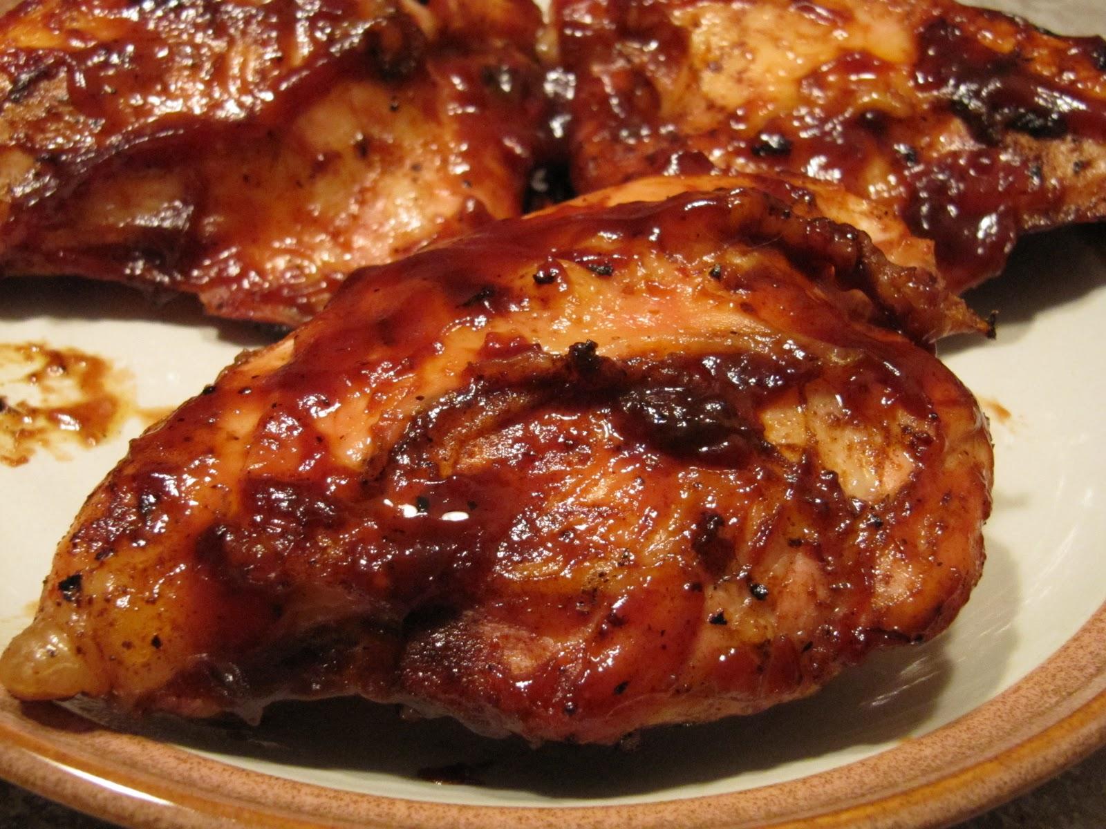 Boneless breast bbq chicken