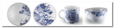 porcelain dishes by ink dish