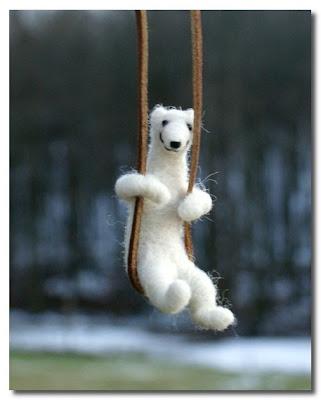 polar bear necklace motley mutton at etsy