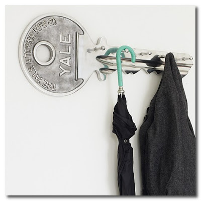 aluminium key coat rack graham and green