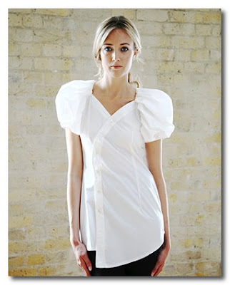 white blouse at the eco chic collection