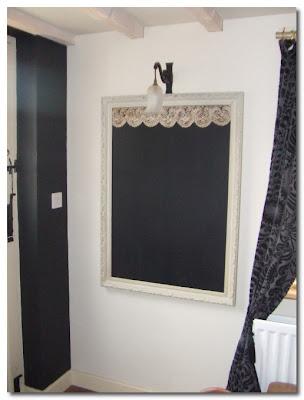 vintage lace blackboard