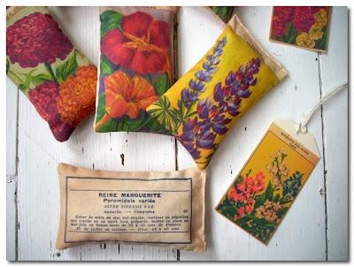 Vintage Seed Packet Lavender Sachets