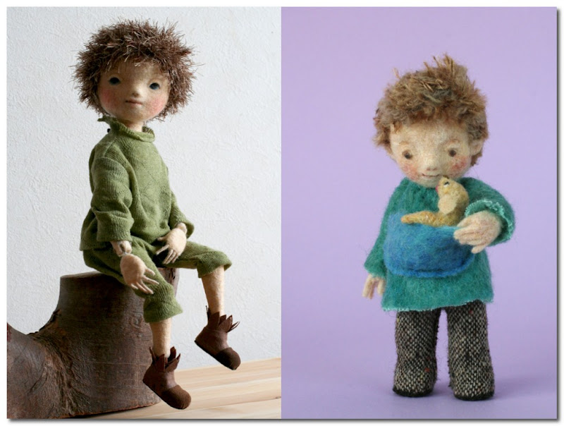 knitted and felted figures yoo moo