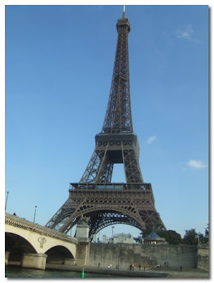 the eiffel tower from the seine paris