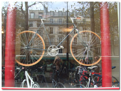a stylish parisian bike and us