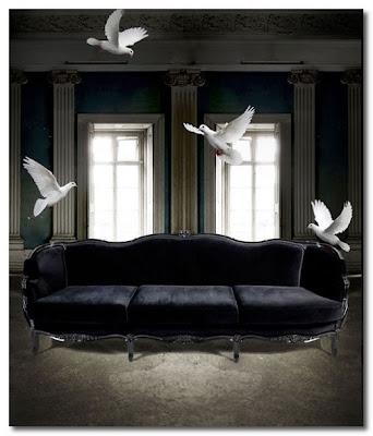 black velvet sofa munna design