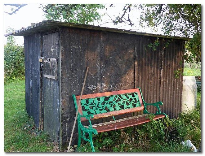 beautiful allotment shed