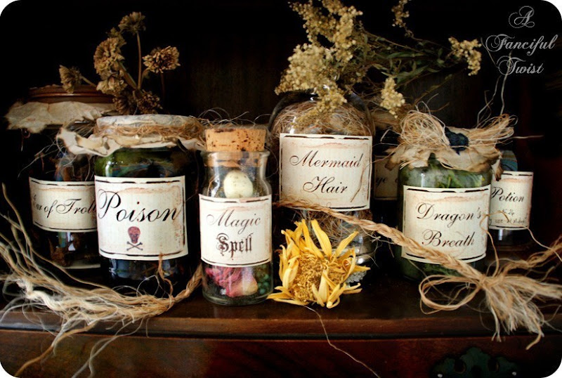 witches potion labels