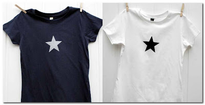 womans star tshirt at bodie and fou