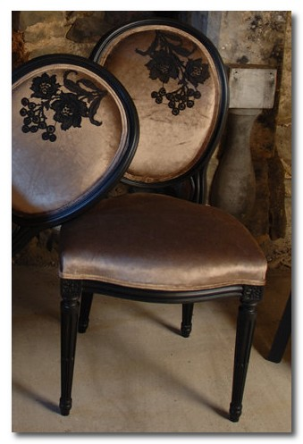 black boudoir chairs ghost furniture