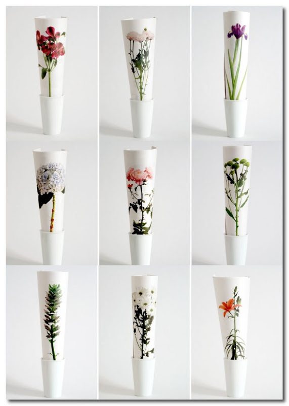 Flowers In Newspaper Format