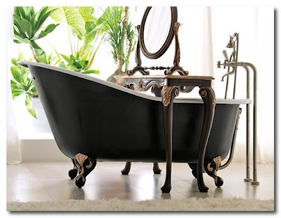 bath with table over