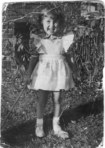 My sister, Kathy, 1954